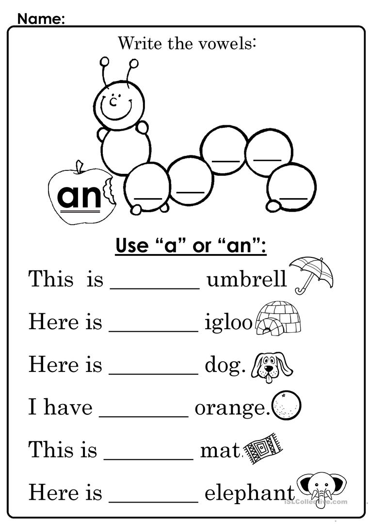 "Use ""a"" Or ""an"" Worksheet - Free Esl Printable Worksheets Made 