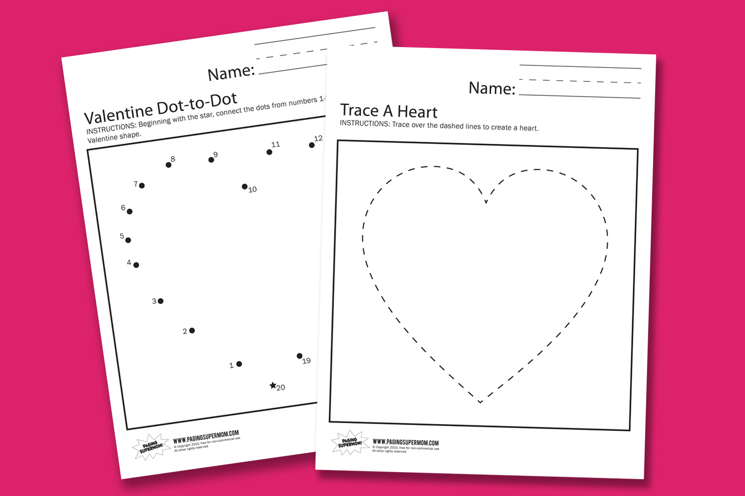 Valentine Worksheets - Paging Supermom | Free Printable Preschool Valentine Worksheets