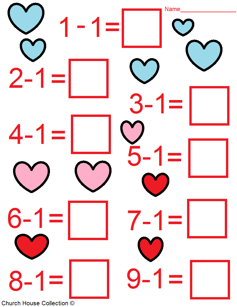 Valentine's Day Math Worksheets For Kids | Free Printable Valentine Math Worksheets