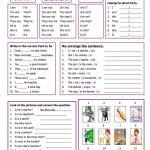 Verb To Be Worksheet   Free Esl Printable Worksheets Madeteachers | Printable Worksheets Esl Students