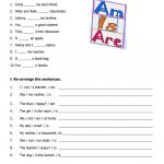 Verb To Be Worksheet   Free Esl Printable Worksheets Madeteachers | To Be Worksheets Printable