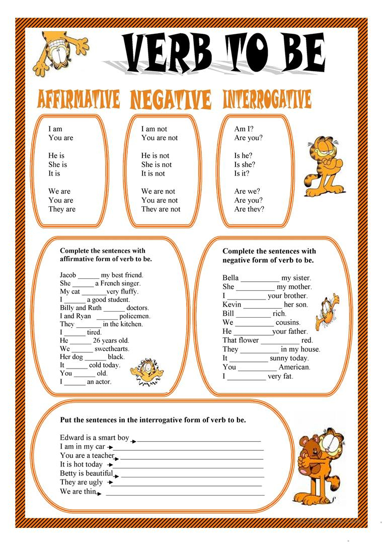Verb To Be Worksheet - Free Esl Printable Worksheets Madeteachers | To Be Worksheets Printable