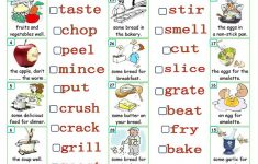 Cooking Verbs Printable Worksheets