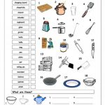 Vocabulary Matching Worksheet   In The Kitchen Worksheet   Free Esl | Free Printable Cooking Worksheets
