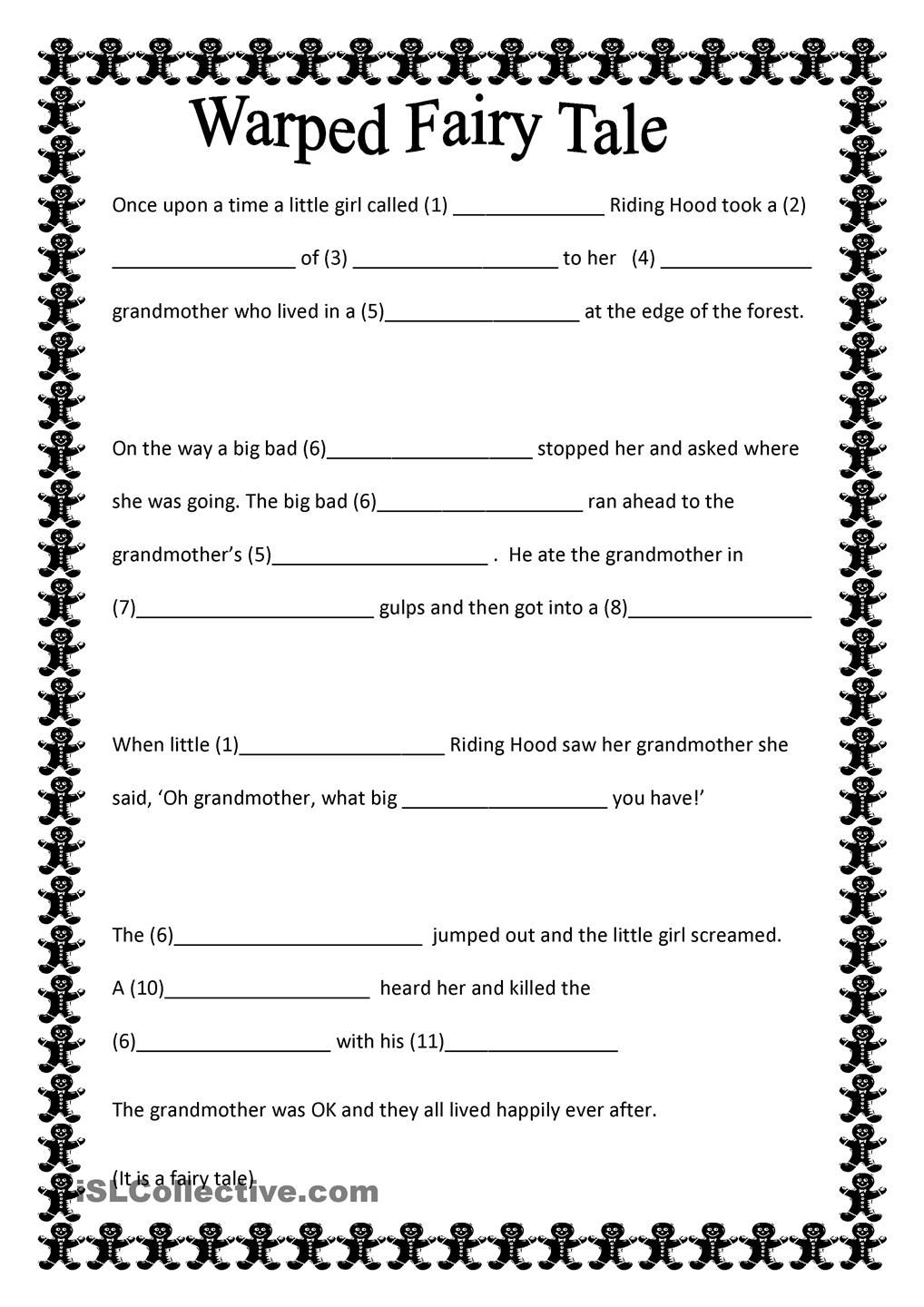 Warped Fairy Tale | Fairy Tales Lucy Calkins | Fairy Tales Unit | Fairy Tale Printable Worksheets