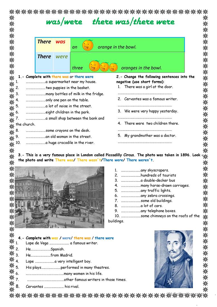 Was Were There Was There Were Worksheet - Free Esl Printable | There Was There Were Printable Worksheets