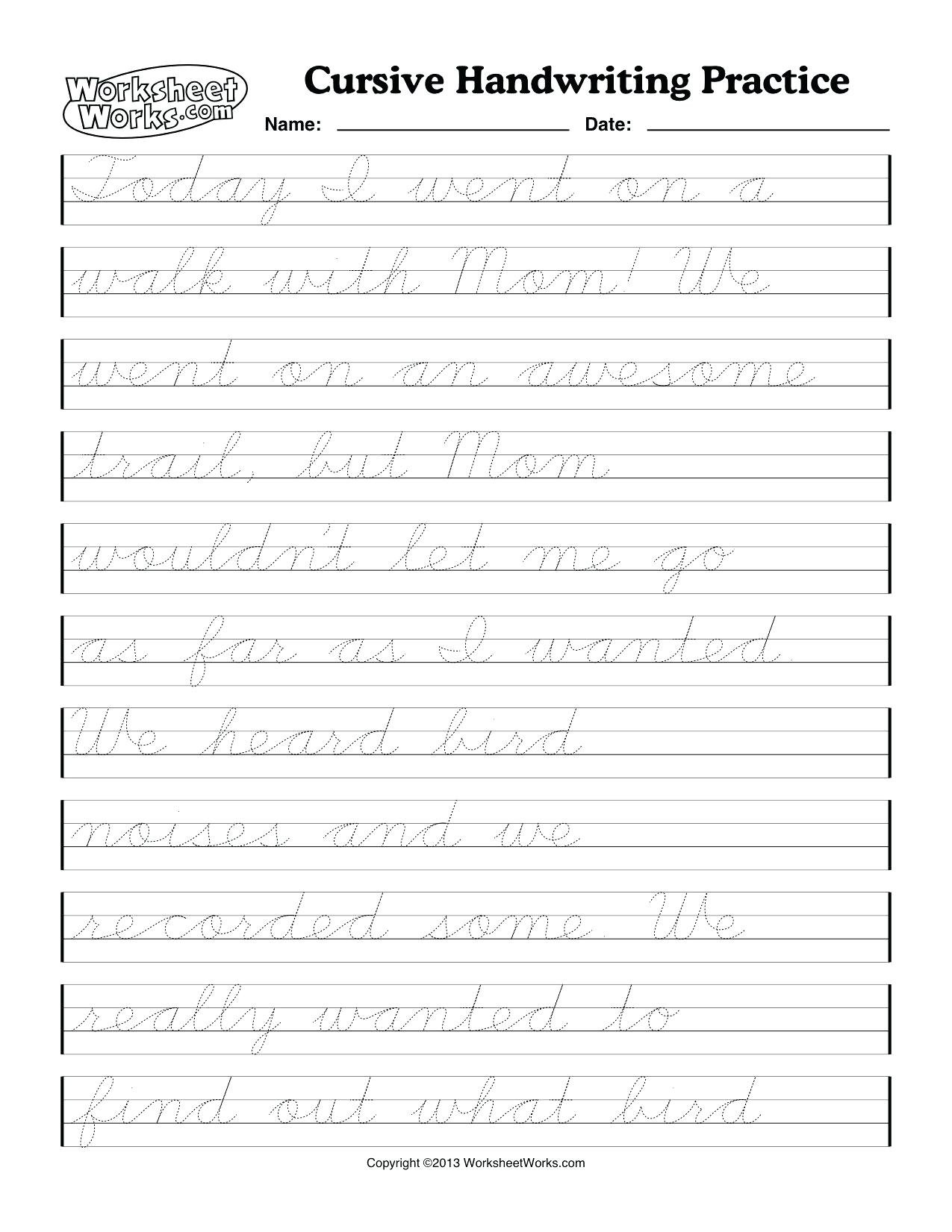 What Is Cursive Handwriting Cursive Handwriting Worksheets Cursive | Cursive Handwriting Worksheets Ks1 Printable