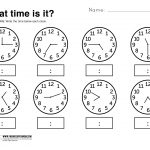 What Time Is It Printable Worksheet | Kolbie | Kindergarten | Telling Time Printable Worksheets First Grade