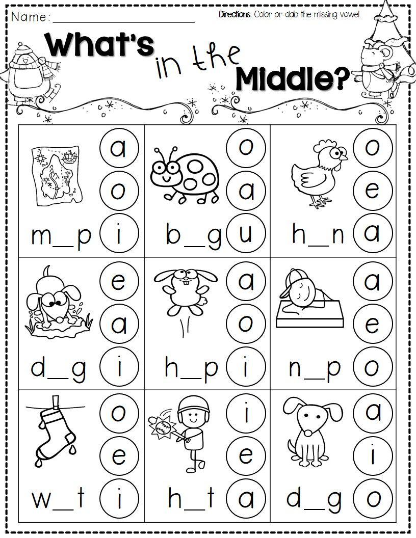 Winter Activities For Kindergarten Free | Kindergarten Literacy | Free Phonics Worksheets Printable