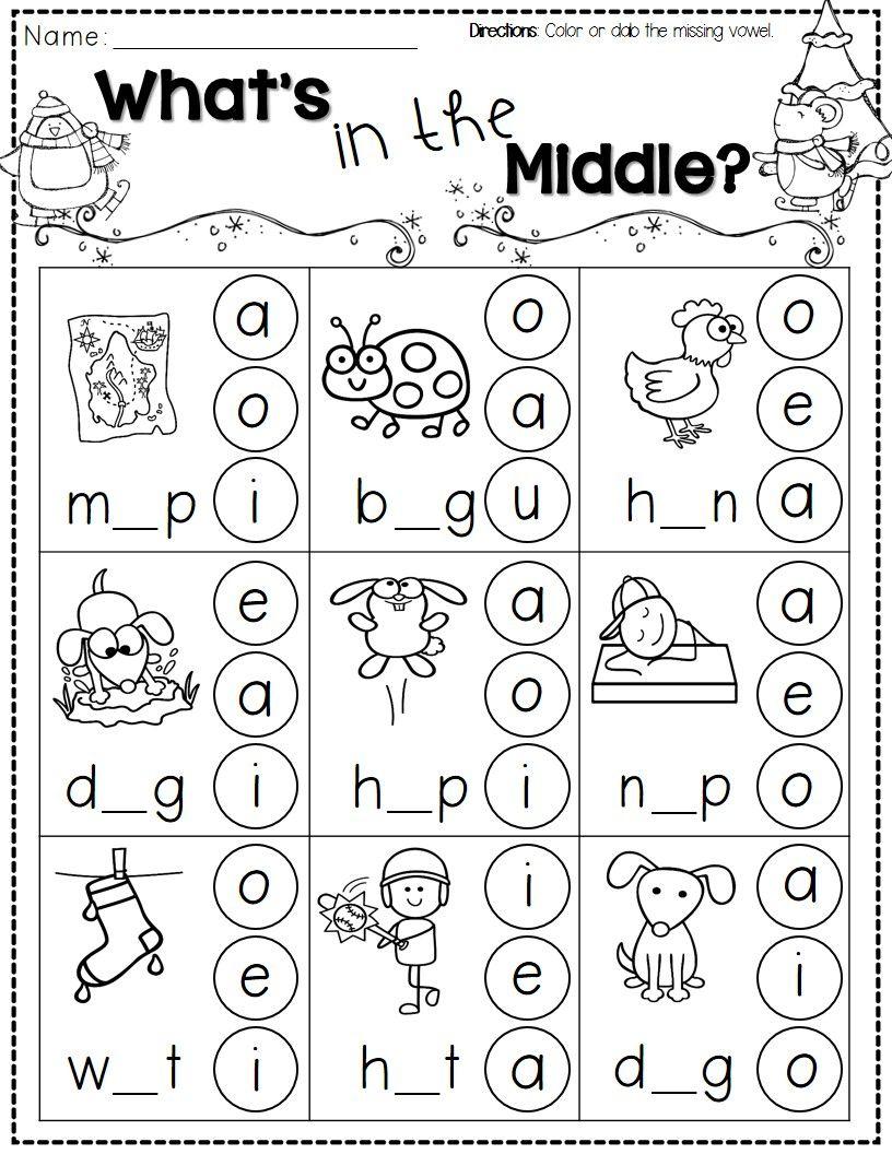Winter Activities For Kindergarten Free | Kindergarten Literacy | Jolly Phonics Worksheets Free Printable