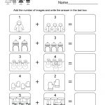 Winter Math Worksheet   Free Kindergarten Seasonal Worksheet For Kids | Printable Winter Math Worksheets