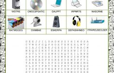 Wordsearch – Computer Parts Worksheet – Free Esl Printable | Parts Of The Computer Worksheet Printable