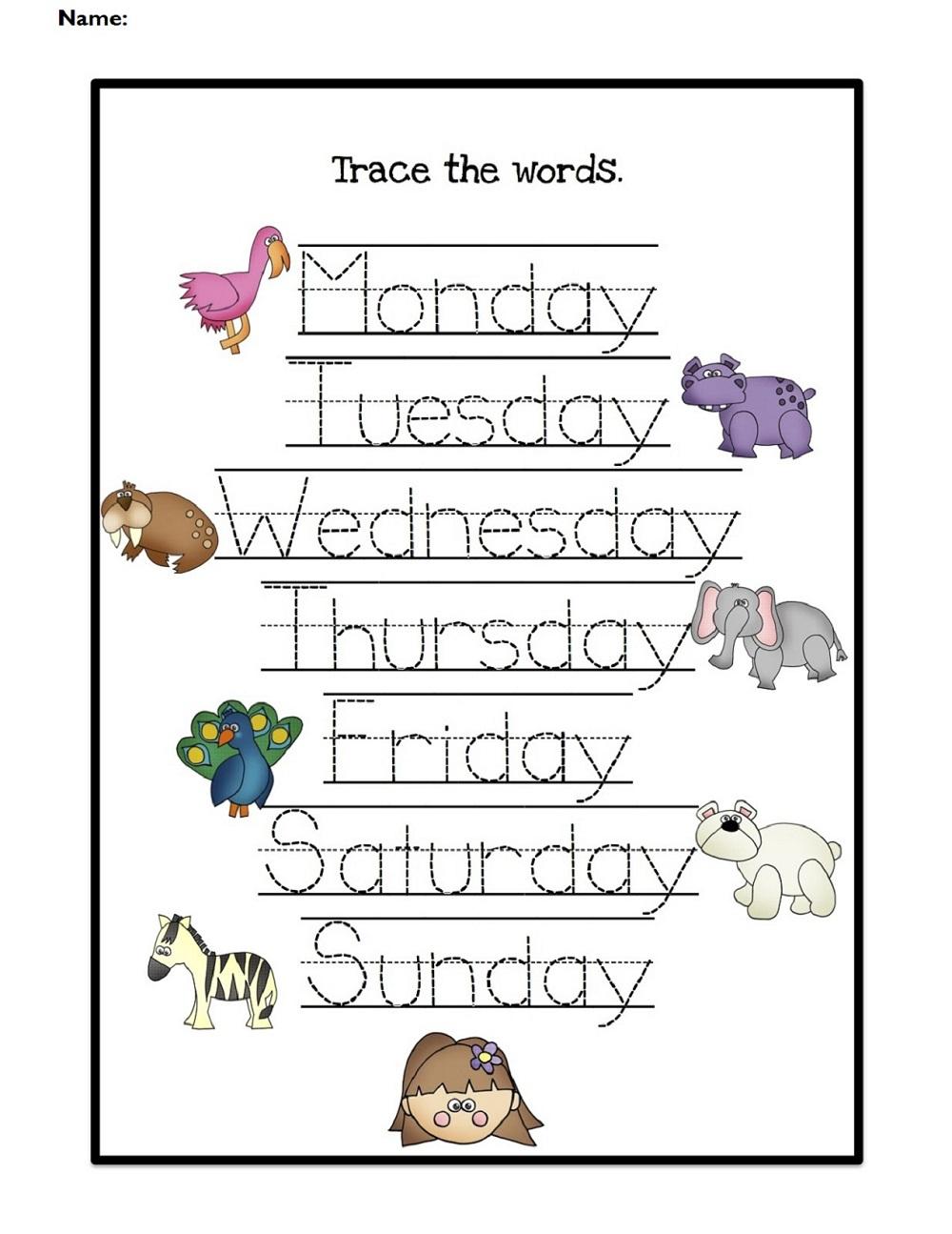 Worksheet For Days Of The Week For Kids   Kiddo Shelter   Free Printable Kindergarten Days Of The Week Worksheets