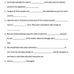 Worksheet : Growing Kids In Grace Parable Of The Ten Minas Miracles | Printable Worksheets Miracles Jesus