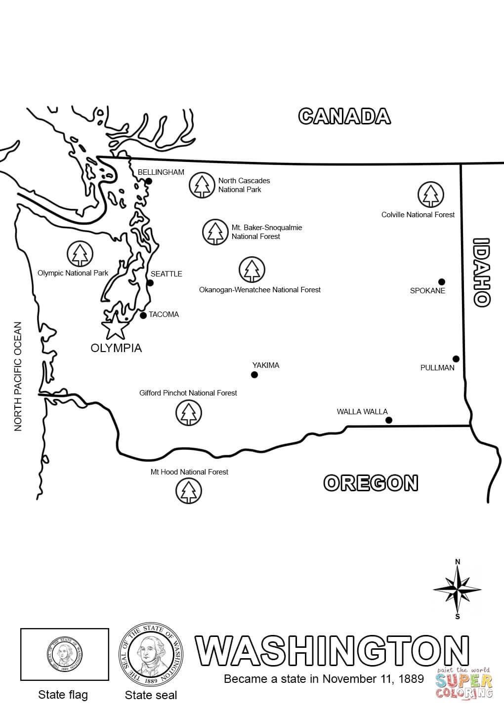Worksheet : Washington Map Coloring Page George For Kids State Free | Free Printable George Washington Worksheets