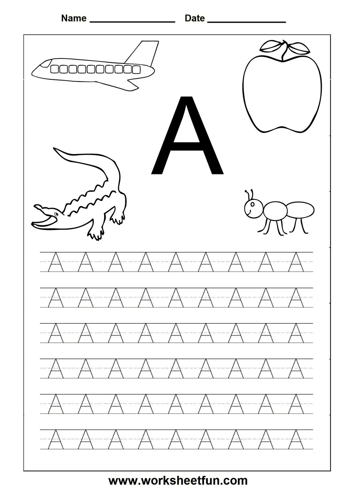 Worksheetfun - Free Printable Worksheets | Toddler Worksheets | Free Printable Letter Worksheets