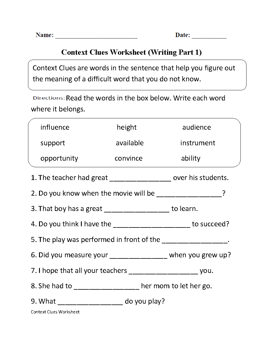 Worksheets Pages : High School English Worksheets Vocabulary Pdf | Free Printable 7Th Grade Vocabulary Worksheets