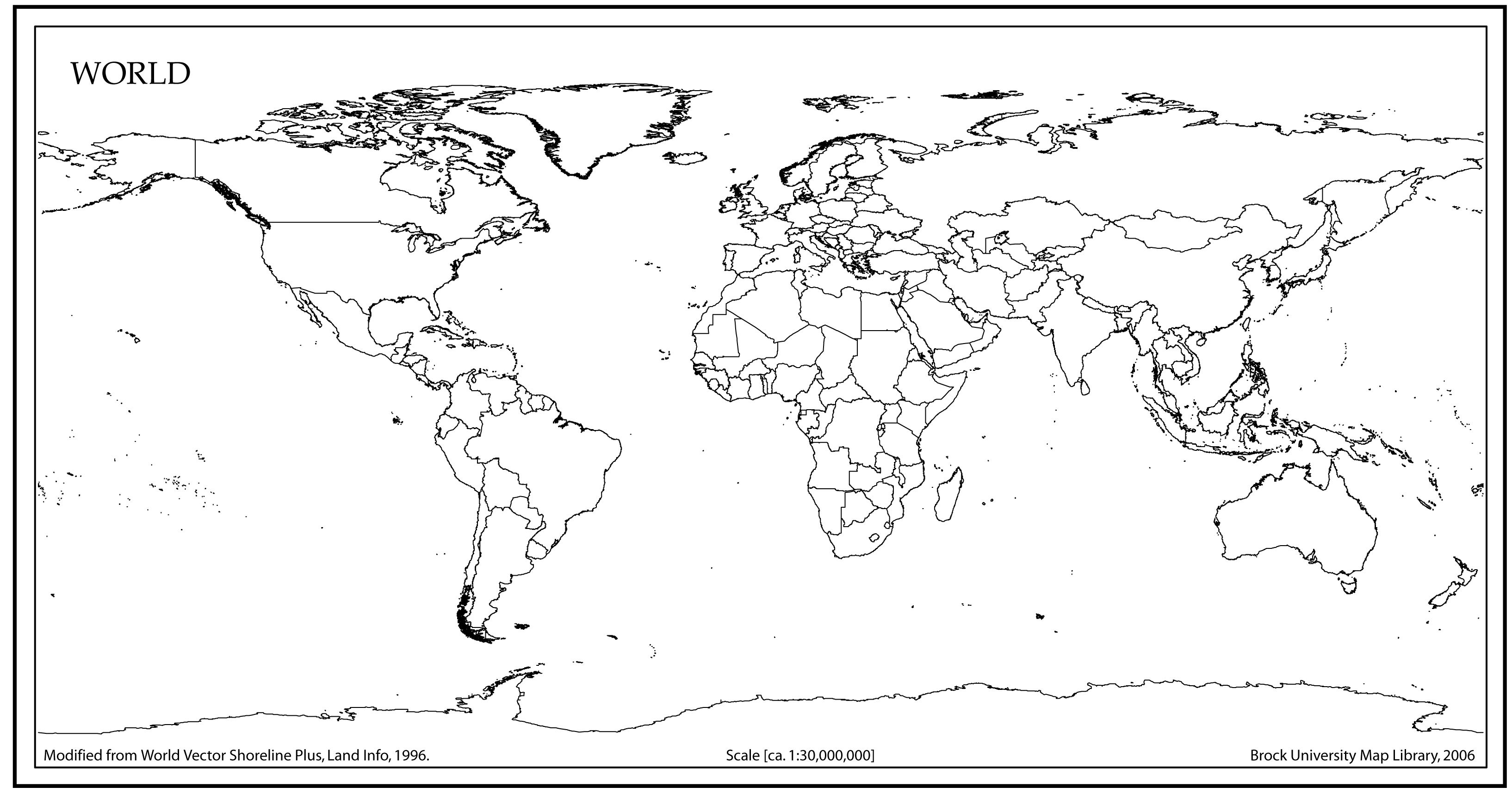 World Map Outline With Countries   World Map   World Map Outline   Free Printable World Map Worksheets