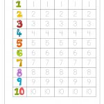 Writing Numbers Worksheet   Kids Learning Activity | Printable | Printable Number Tracing Worksheets