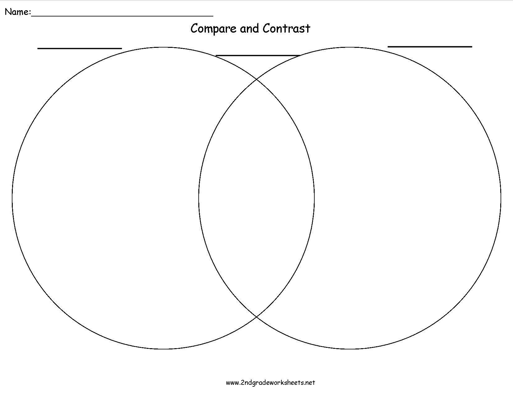 Writing Organizers Worksheets | Printable Compare And Contrast Worksheets