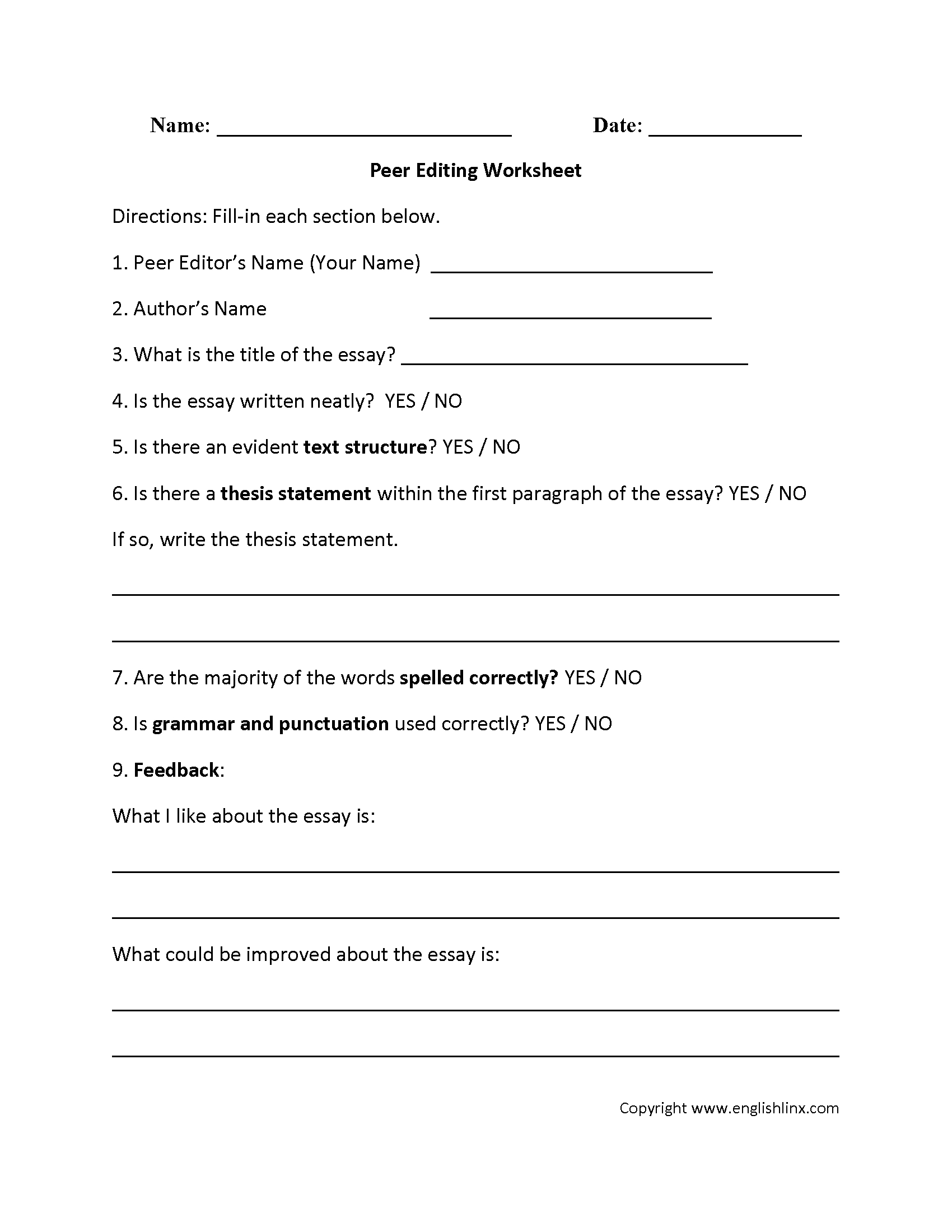 Writing Worksheets | Editing Worksheets | Free Printable Editing Worksheets For 5Th Grade