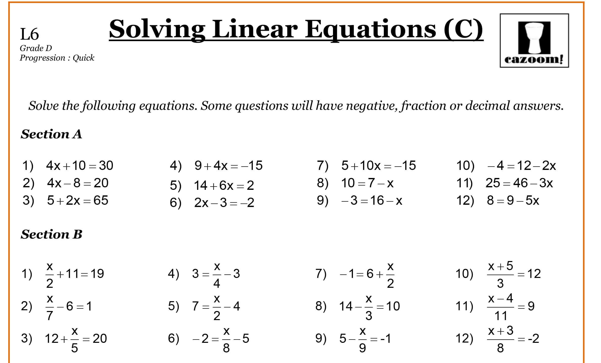 Year 9 Maths Worksheets | Printable Maths Worksheets | Grade 9 Math Worksheets Printable Free With Answers