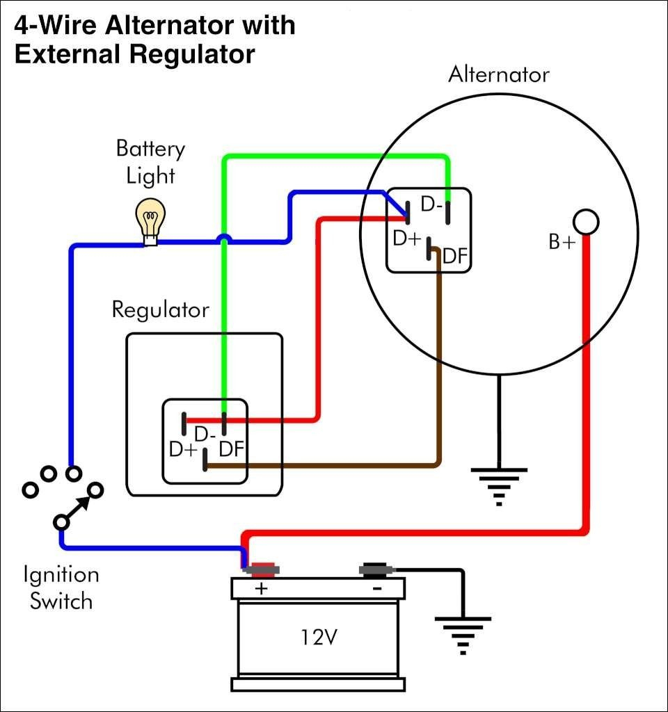 12 Volt Delco Alternator Wiring Diagram | Wiringdiagram | Wiring Diagram Alternator To Battery